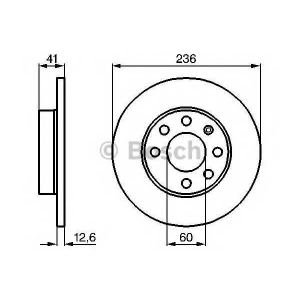 Тормозной диск 0986478081 bosch - OPEL VECTRA A (86_, 87_) седан 1.7 TD