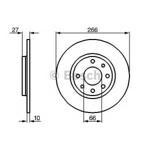 BOSCH 0 986 478 090 Тормозной диск Ситроен Бх