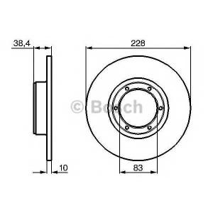 BOSCH 0 986 478 103 Тормозной диск Дача 1310