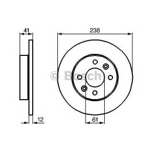 BOSCH 0 986 478 105 Тормозной диск Рено 19