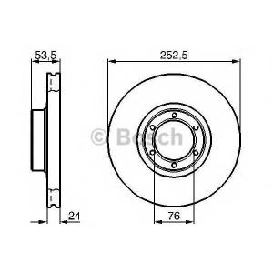 BOSCH 0 986 478 113 Тормозной диск