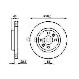BOSCH 0 986 478 124 Тормозной диск Рено 19