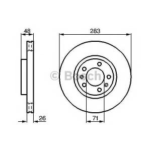 BOSCH 0 986 478 125 Тормозной диск Ситроен Хм