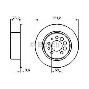 Тормозной диск 0986478143 bosch - VOLVO 240 (P242, P244) седан 2.1