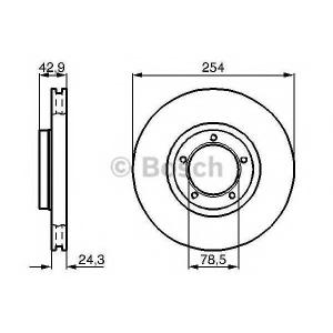 BOSCH 0986478160 Гальмівний диск FORD Tourneo, Transit F