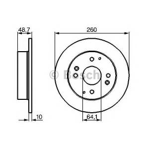 Тормозной диск 0986478172 bosch - ROVER 600 (RH) седан 620 i