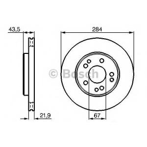 BOSCH 0 986 478 186 Тормозной диск Мерседес 190