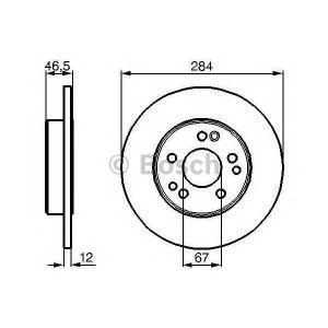BOSCH 0 986 478 187 Тормозной диск (пр-во Bosch)