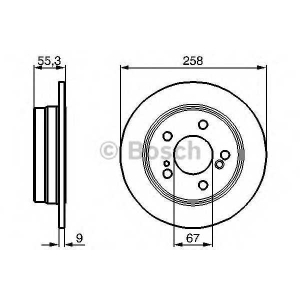 BOSCH 0 986 478 188 Тормозной диск Мерседес 190