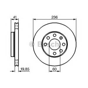 BOSCH 0 986 478 192 Тормозной диск Шевроле Калос