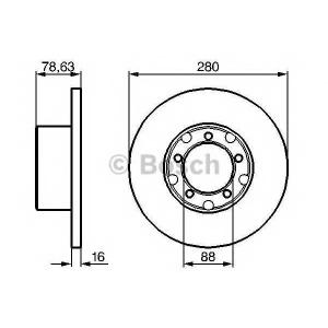 BOSCH 0 986 478 201 Тормозной диск Мерседес