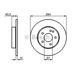 Тормозной диск 0986478262 bosch - MERCEDES-BENZ C-CLASS (W202) седан C 36 AMG (202.028)