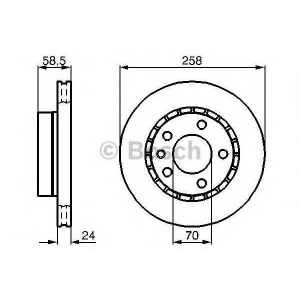 BOSCH 0 986 478 265 Тормозной диск Опель Омега