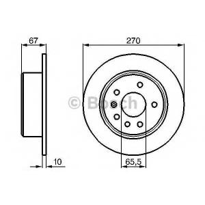 BOSCH 0 986 478 267 Тормозной диск Опель Омега