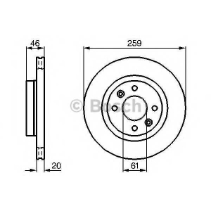 BOSCH 0 986 478 270 Тормозной диск Рено 25