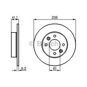 BOSCH 0 986 478 273 Тормозной диск Рено Рапид