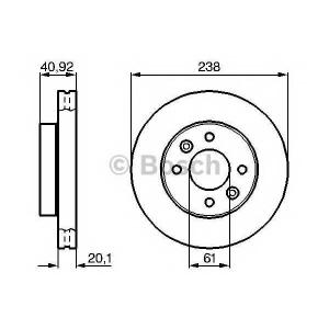 BOSCH 0 986 478 276 Тормозной диск Рено 19