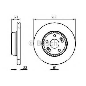 BOSCH 0 986 478 280 Тормозной диск Рено 25