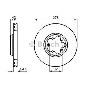 BOSCH 0 986 478 299 Тормозной диск (пр-во Bosch)