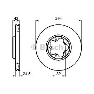 BOSCH 0986478303 Гальмівний диск FORD Transit 2000- F