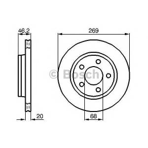 BOSCH 0 986 478 316 Тормозной диск Ауди 100
