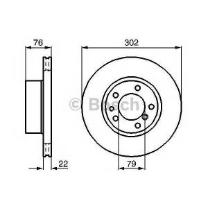 Тормозной диск 0986478318 bosch - BMW 5 (E34) седан 520 i