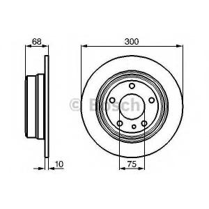 BOSCH 0986478323 Гальмівний диск BMW E32 730 R