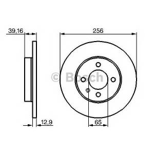 BOSCH 0 986 478 329 Диск тормозной VW GOLF IV, CADDY передн. (пр-во Bosch)