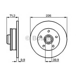 Тормозной диск 0986478332 bosch - VW PASSAT (3A2, 35I) седан 2.8 VR6