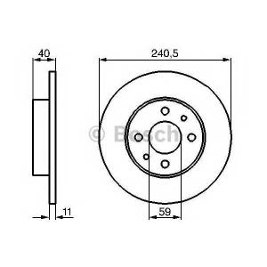 BOSCH 0986478342 Тормозной диск передний/задний FIAT Tipo,Tempra 240