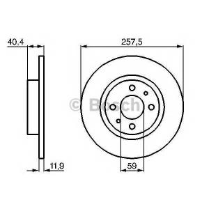 BOSCH 0 986 478 343 Тормозной диск Фиат Типо