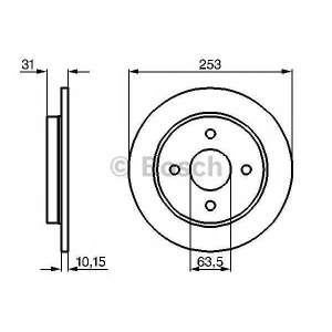 BOSCH 0 986 478 344 Тормозной диск