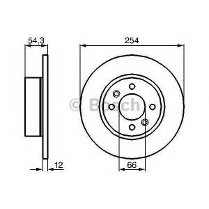 BOSCH 0 986 478 390 Тормозной диск Рено 25