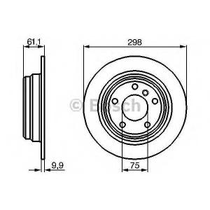 BOSCH 0986478425 Гальмівний диск BMW E39 R