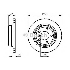 BOSCH 0 986 478 426 Тормозной диск (пр-во Bosch)