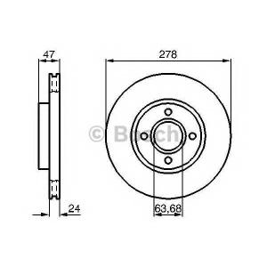 BOSCH 0 986 478 427 Тормозной диск