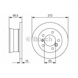 BOSCH 0986478433 Гальмівний диск MB VW Sprinter LT R