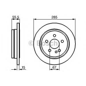 BOSCH 0986478469 Тормозной диск
