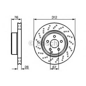 0986478471 bosch Тормозной диск MERCEDES-BENZ S-CLASS седан S 280 (220.063, 220.163)