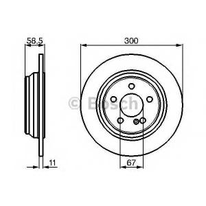 Тормозной диск 0986478472 bosch - MERCEDES-BENZ S-CLASS (W220) седан S 280 (220.063, 220.163)