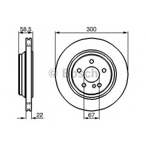 Тормозной диск 0986478473 bosch - MERCEDES-BENZ S-CLASS (W220) седан S 430 (220.070, 220.170)