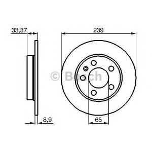 BOSCH 0 986 478 481 Тормозной диск