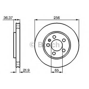 Тормозной диск 0986478482 bosch - SEAT LEON (1M1) Наклонная задняя часть 1.8 T Cupra R