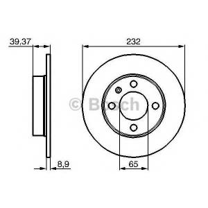 0986478492 bosch Тормозной диск SEAT AROSA Наклонная задняя часть 1.4