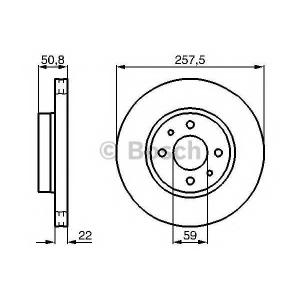 BOSCH 0 986 478 512 Тормозной диск Лансия