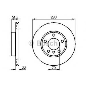 Тормозной диск 0986478513 bosch - BMW 3 купе (E36) купе 318 is