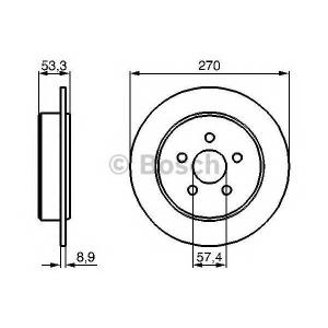 BOSCH 0 986 478 514 Тормозной диск Крайслер Сайрус