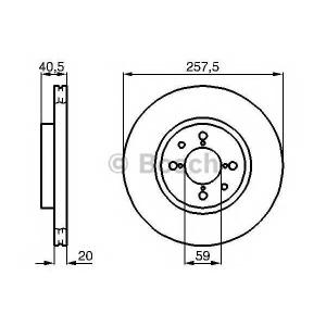 BOSCH 0 986 478 515 Тормозной диск Фиат Типо