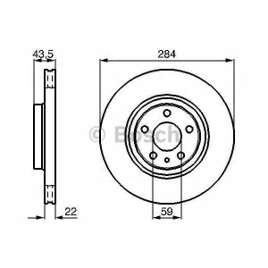 BOSCH 0 986 478 521 Тормозной диск Лансия