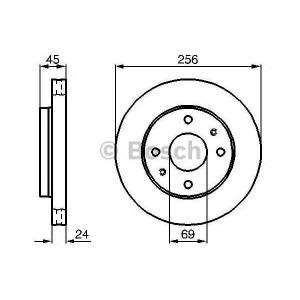 Тормозной диск 0986478531 bosch - MITSUBISHI SPACE STAR (DG_A) вэн 1.3 16V (DG1A)